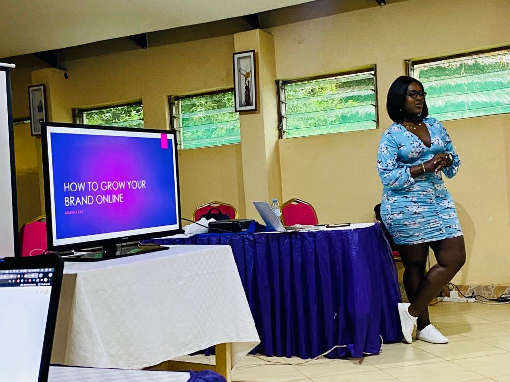 Martha Kay facilitates a personal branding session